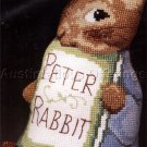 Rare Beatrix Potter Shaped Cross Stitch Pillow Kit Peter Rabbit with his Story Book