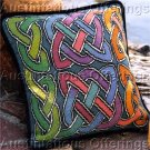 Elegant Barrani Rainbow Celtic Knot Needlepoint Pillow Kit