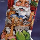 RARE GILLUM SANTA WITH NOAH'S ARK TOYS NEEDLEPOINT STOCKING KIT