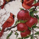 Apple Orchard Cardinals Cross Stitch Kit Bird Trio Roger Reinardy