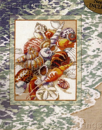 Nancy Rossi Tranquil Beach Seashell Collection Cross Stitch Kit
