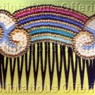 Ann Benson Rainbow  Beaded Decorative Hair Comb or Brooch Kit  Beadpoint
