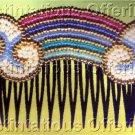 Ann Benson Rainbow  Beaded Decorative Hair Comb or Brooch Kit  Beadpoint