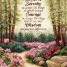Inspirational Serenity Prayer Counted Cross Stitch Lena Liu Garden Path