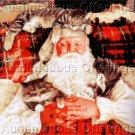Susan Brabeau Reproduction Santa's Catnap Cross Stitch Kit Allaire