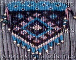 Rare Benson Needle Weaving  Beaded Brooch Kit Southwestern Style Turquoise