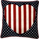 Patriotic Americana Heart Needlepoint Pillow Kit USA Flag Michael LeClair