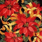 RARE BAATZ CHRISTMAS WINTER FLORAL NEEDLEPOINT PILLOW KIT POINSETTIA