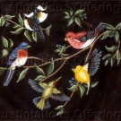 Rare Nancy Lake Songbirds Crewel Embroidery Kit Bluebird Goldfinch Hummingbird