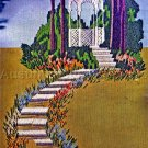 Rare Tranquil Gazebo Crewel Embroidery Kit Summer Landscape