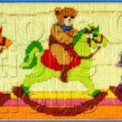 TEDDY BEAR CAVALRY  LONGSTITCH NEEDLEPOINT KIT ROCKING HORSE BEARS