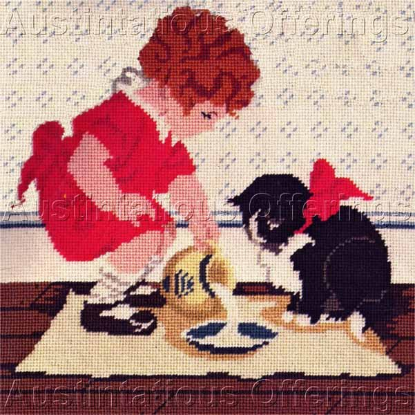 RARE JESSIE WILLCOX SMITH NEEDLEPOINT KIT MAG  COVER REPRODUCTION GOOD HOUSEKEEPING MARCH 1920