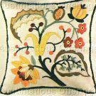 RARE ERICA WILSON JACOBEAN HEIRLOOM CREWEL EMBROIDERY PILLOW KIT