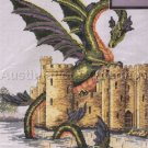 RARE MEDIEVAL CASTLE MOAT & DRAGON CROSS STITCH KIT