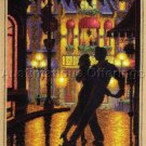 Denis Nolet Midnight Tango Cross Stitch Kit Romantic Travel Poster