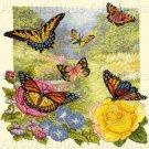 Exquisite Butterflies in Summer Garden Counted Cross Stitch Kit  Heirloom
