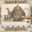 Rare Tea Pot Still Life Cross Stitch Kit Evenweave Wentzler Hardanger