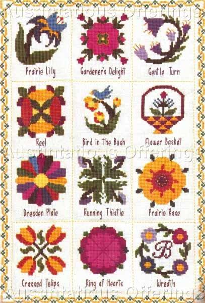 Rare Phyllis Baldridge  Quilt Collector Cross Stitch Kit  Nostalgic Quilts Sampler