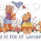 Adventurous Teddy Bears Cross Stitch Kit Gillum Butterflies
