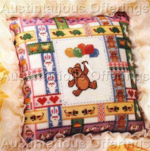 Dawne Marshall Cooley Teddy Bears Butterflies Counted Cross Stitch Kit Balloons