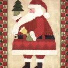 RARE KEVIN BURGESS CHRISTMAS FOLK ART SANTA CLAUS  TEXTURED NEEDLEPOINT KIT