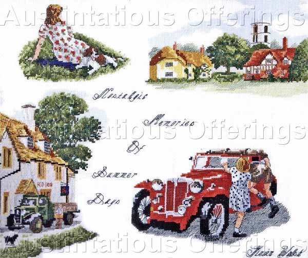 Summer Memories Counted Cross Stitch Kit Nostalgic Days Gone By
