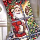 Santa Window View Christmas Cross Stitch Stocking Kit Donna Race
