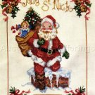Rare Giampa Santa Claus Down the Chimney Cross Stitch Sampler Kit Saint Nicholas