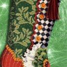 Rare Baatz Victorian Shoe Needlepoint Stocking Kit Christmas Pillow