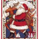 Rare Susan Winget Santa Claus and Reindeer Cross Stitch Kit Night Before Christmas Verse