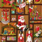 Rare  Jennings Yuletide Shadowbox Crewel Embroidery Kit Childhood Memories
