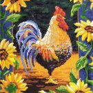 Rare Julie Ueland Sunflower Rooster Needlepoint Kit Bold Cockerel
