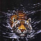 Rare Jackson Big Cat Midnight Predator No Count Cross Stitch Kit Swimming Tiger