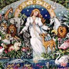 RARE KARL BANG ARTWORK MOTHER NATURE REPRO CROSS STITCH KIT EARTH DAY 25TH ANNIVERSARY