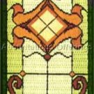 Rare Tiffany Style Window Longstitch Needlepoint Kit Stained Glass