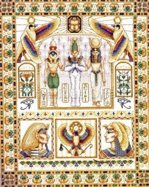 Rare Wentzler Egyptian Court Evenweave Cross Stitch Sampler Kit Pharoah