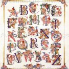 Rare Giampa Cherub Alphabet Counted Cross Stitch Kit Sampler
