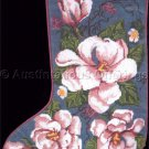 Rare Cool Magnolia Blossoms Needlepoint Stocking Kit Elegant Christmas Floral