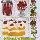 Nancy Edward Strawberry Sampler Crewel Embroidery Kit Diner Fun Strawberries