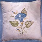 Rare Jean Fox Candlewicking Crewel Embroidery Floral Pillow Kit Morning Glory