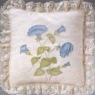 Rare Jean Fox Candlewicking Crewel Embroidery Floral Pillow Kit Petunia