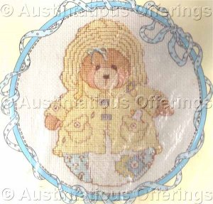 CROSS STITCH KIT ROLY POLY CHERISHED TEDDY APRIL