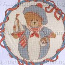 CROSS STITCH KIT ROLY POLY CHERISHED TEDDY AUGUST
