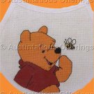 POOH BEAR BABY BIB BUMBLEBEE CROSS STITCH KIT