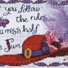 RED HAT COLLECTION COUNTED CROSS STITCH MISS HALF THE FUN KIT