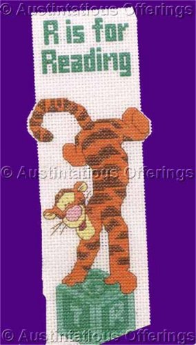 Disney Collection Counted Cross Stitch Tigger Bookmark