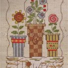 GARDEN CHARM FLORAL COUNTED CROSS STITCH HANGER KIT