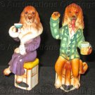Vintage Ivan the Orator and Miss Ritz Bar Hound set of Porcelain Curio Cabinet Figurines
