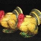 Vintage Mid Century Napco pocelain Turkey Candle Holders