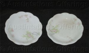 Vintage Johnson Brothers of England Porcelain Butter Plate Set